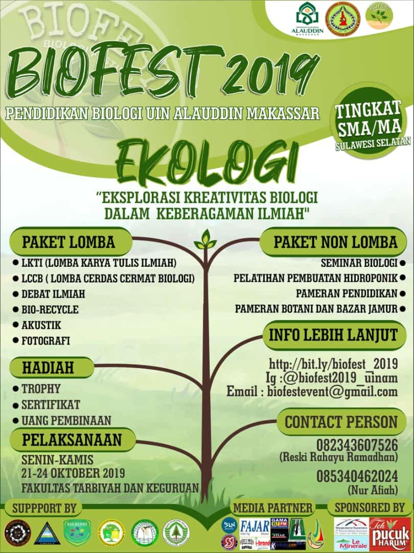 Kegiatan  Biologi Festival 2019